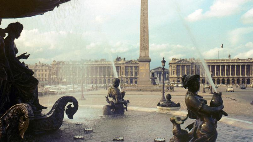 La fontaine des Mers, place de la Concorde (Paris VIIIe).
