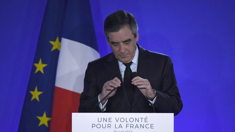 François Fillon au soir de sa défaite, le 23 avril.