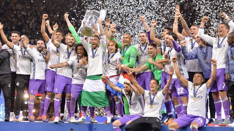 Le Real Madrid, dernier vainqueur de la Ligue des champions.