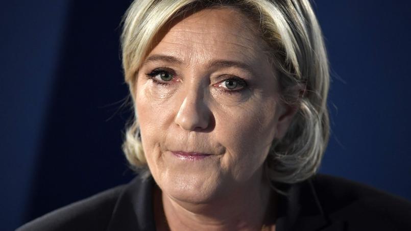Marine Le Pen le 21 avril 2017 lors de la campagne présidentielle.