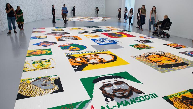 Ai Weiwei a récolté plus d'un million de Lego pour assembler 176 portraits de dissidents politiques.