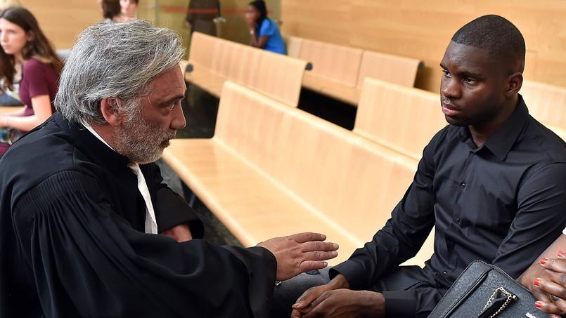 Odsonne Edouard et son avocat lors de son procès