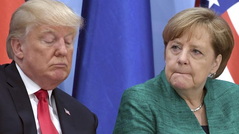 Donald Trump et Angela Merkel au sommet du G20.
