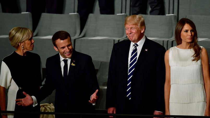 Conférence de presse d'Emmanuel Macron et de Donald Trump