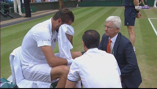 Marin Cilic en pleurs lors de sa finale à Wimbledon, face au Suisse Roger Federer