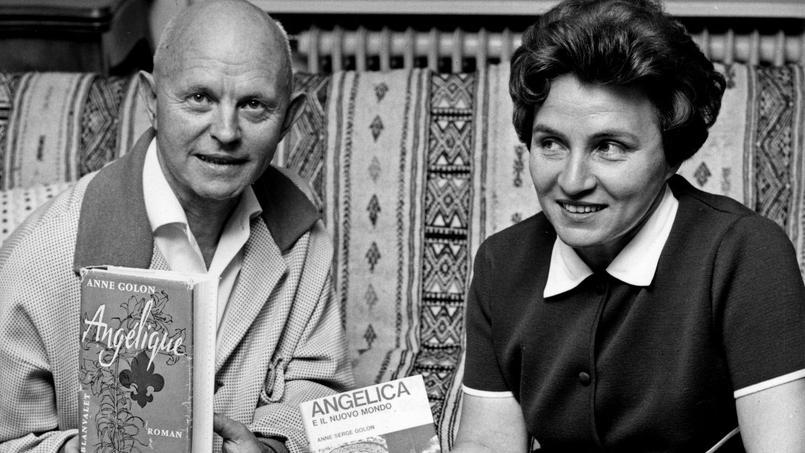Serge et Anne Golon, auteurs de la saga «Angélique», en juillet 1966.