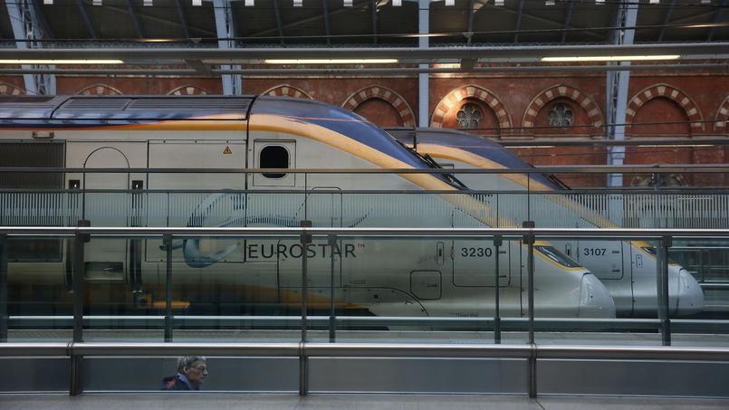 Un Eurostar à la gare de Saint-Pancras à Londres.