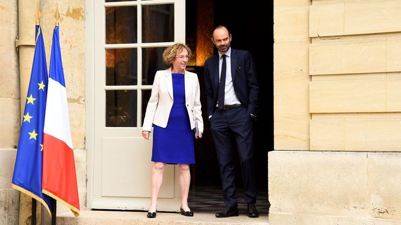 La ministre du Travail, Muriel Pénicaud et le Premier ministre Edouard Philippe.