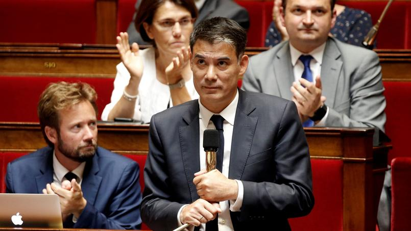 Olivier Faure à l'Assemblée nationale. Crédits photo: Reuters/Charles Platiau