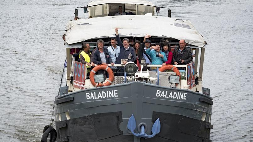 Jean-Luc Mélenchon en campagne pour les élections législatives, en juin dernier