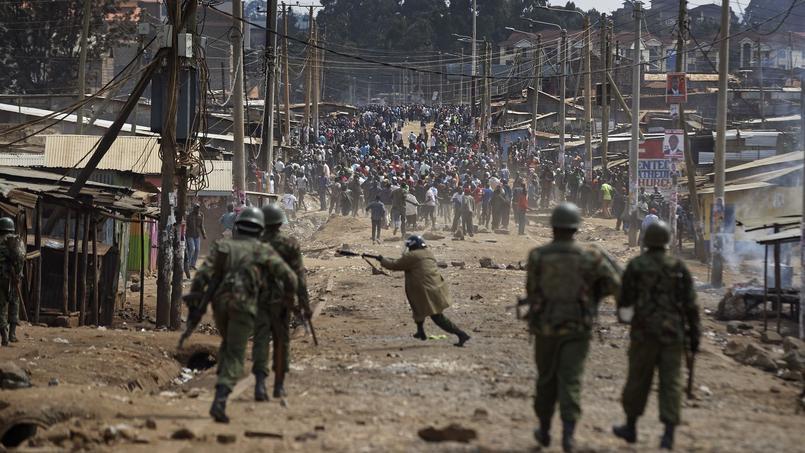 Des heurts ont opposé, jeudi, des partisans d'Odinga et les forces de l'ordre, dans un bidonville de Nairobi.