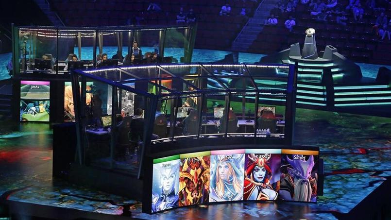 Le Championnat international de Dota 2, situé à Seattle, est l'un des plus grands tournois de e-sport.