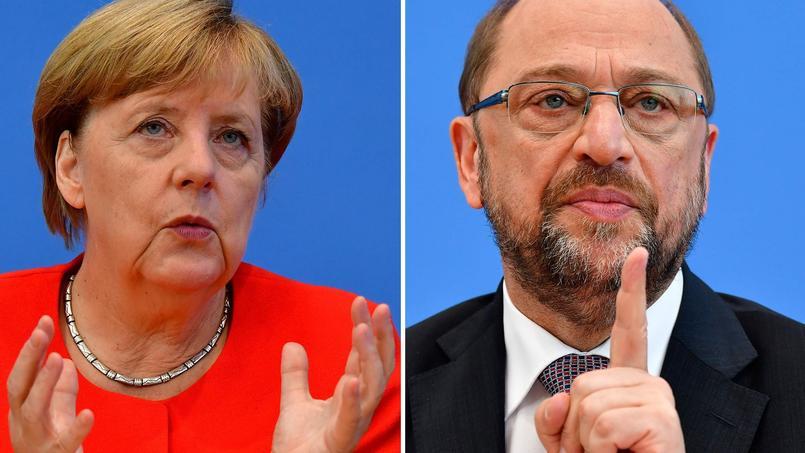 Elections en Allemagne: Merkel plus favorite que jamais après le duel télévisé