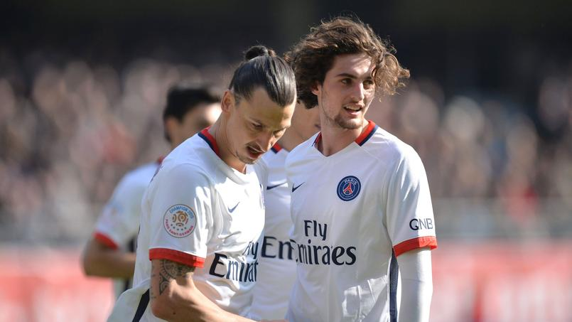 Adrien Rabiot aux côtés de Zlatan Ibrahimovic.