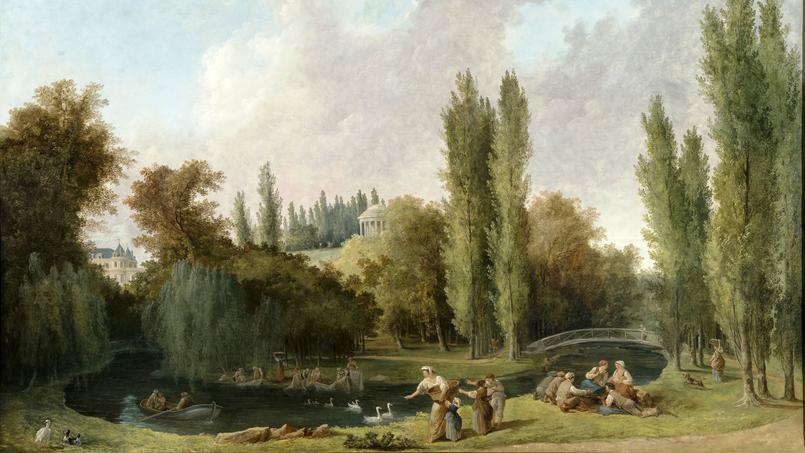 Vue du parc de Méréville, toile de Hubert Robert. Collection particulière.