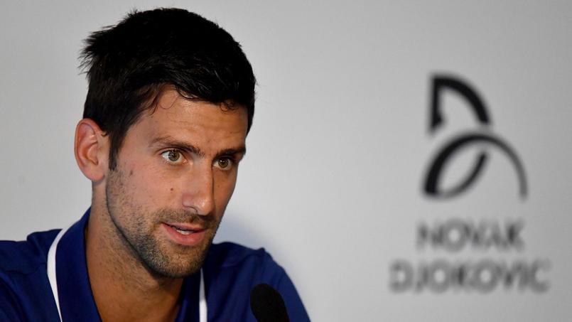 Novak Djokovic en conférence de presse à Belgrade, le 26 Juillet 2017