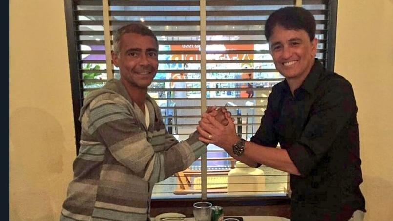 Romario et Bebeto lors d'une rencontre fin octobre