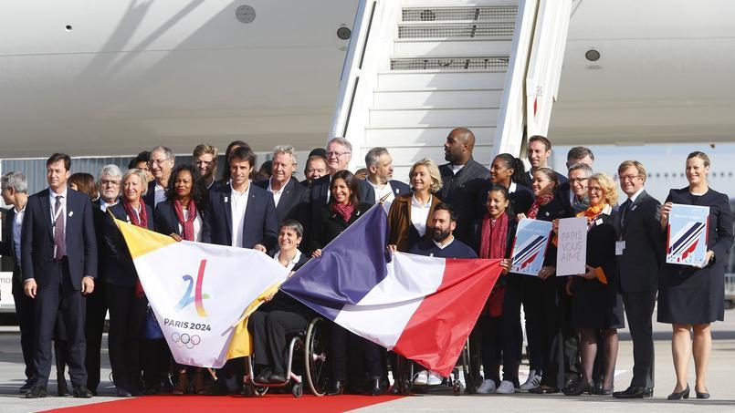 La délégation parisienne à son retour de Lima, en septembre 2017