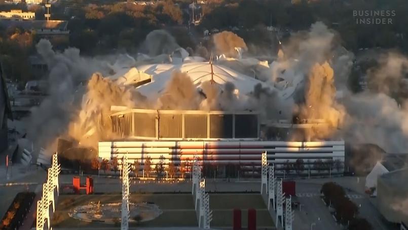 L'un des plus grands dômes d'Amérique détruit à l'explosif — Atlanta