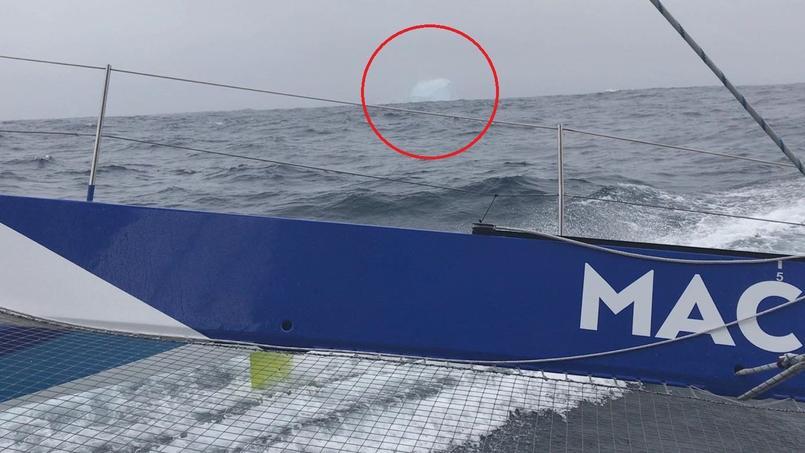 La frayeur de François Gabart qui croise son premier iceberg