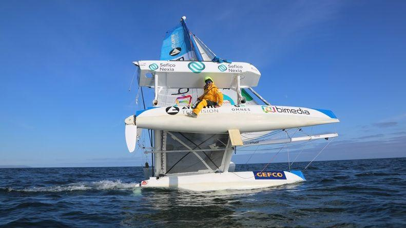 Yvan Bourgnon sur son catamaran «Ma Louloutte»