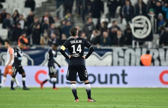 Bordeaux tête basse face à Montpellier (défaite 0-2), lors de la 19e journée de Ligue 1, le 20 décembre 2017.