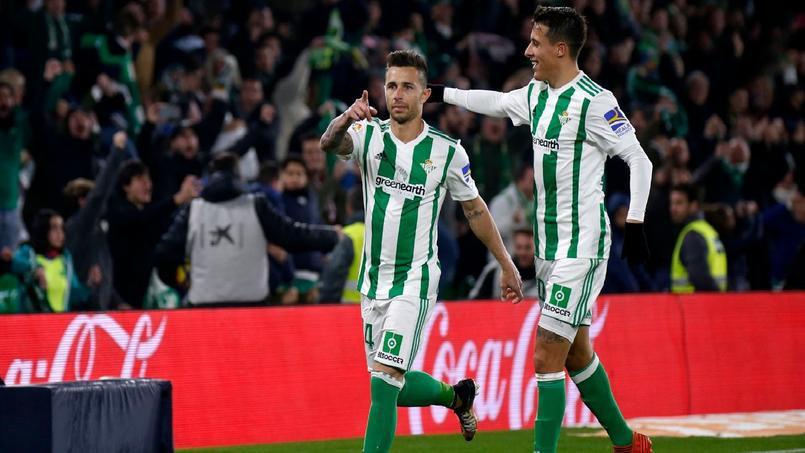 La joie du Betis Séville lundi soir contre Leganés lors du but victorieux.