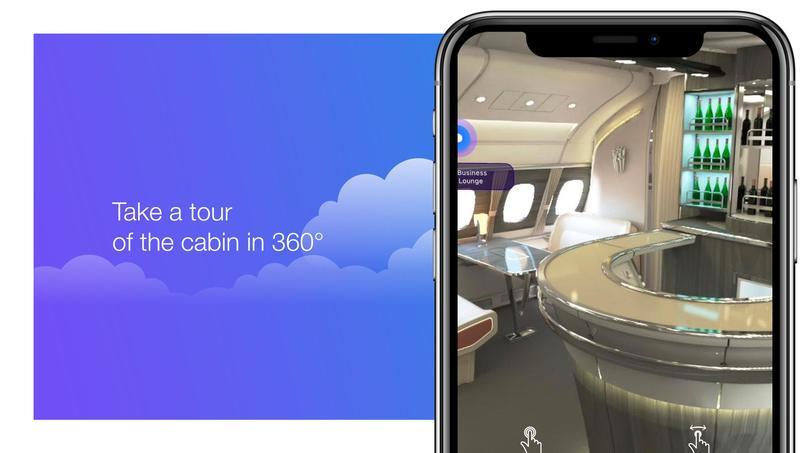 À bord de l'A380 avec une application en réalité augmentée - Le Figaro