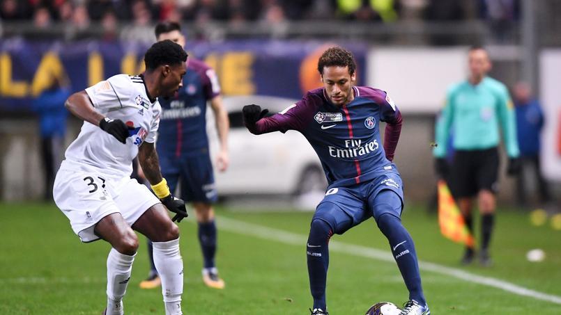 Neymar en Coupe de la Ligue face à Amiens le 10 janvier.
