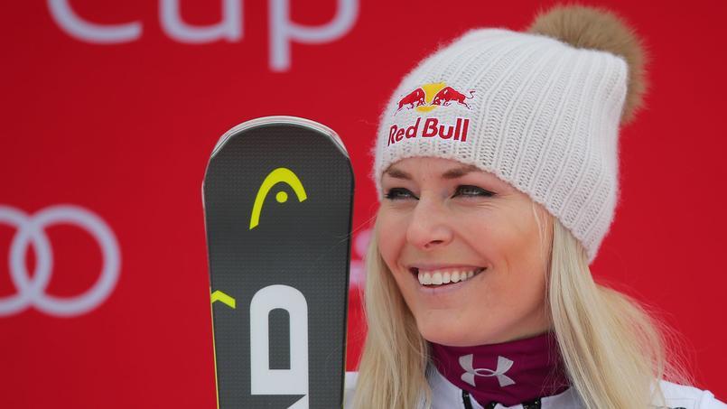 Lindsey Vonn en février 2018 à Garmish-Partenkirchen.