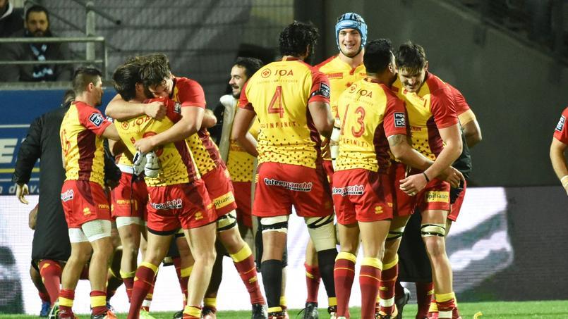 Les rugbymen perpignanais en novembre 2017.