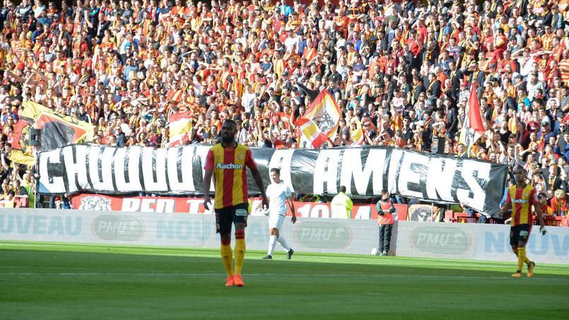 La banderole à Lens contre Reims.
