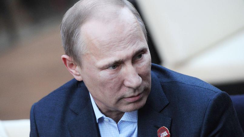 Vladimir Poutine en février 2014 en visite au parc olympique.