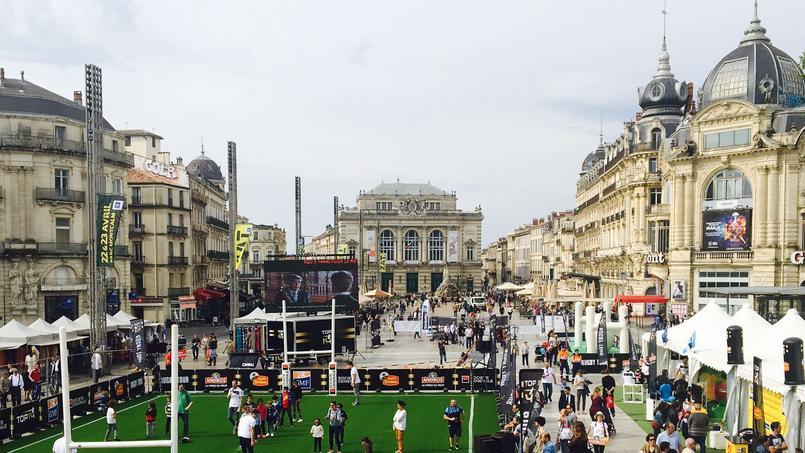 L'année dernière, le Top 14 Rugby Tour a fait escale à Montpellier