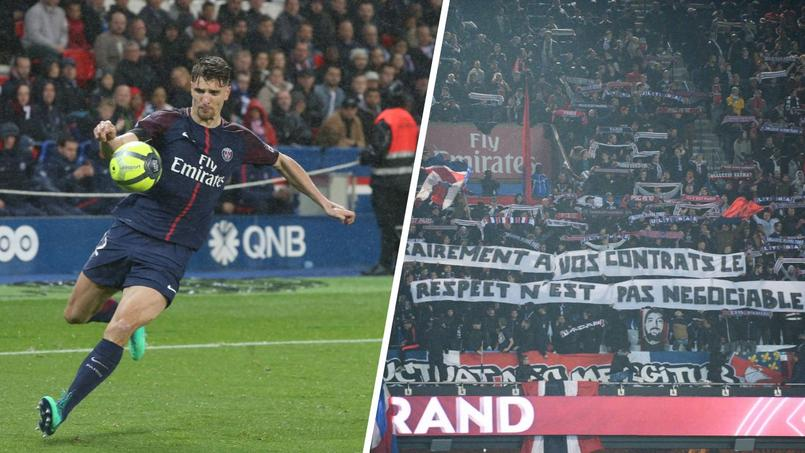 Thomas Meunier conspué par une partie des supporters du PSG