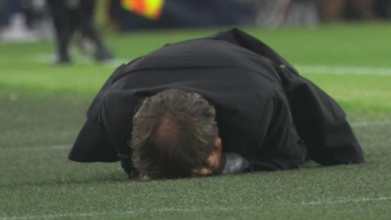 OM-Nice : Rudi Garcia s'est roulé par terre après que l'arbitre n'a pas accordé de penalty