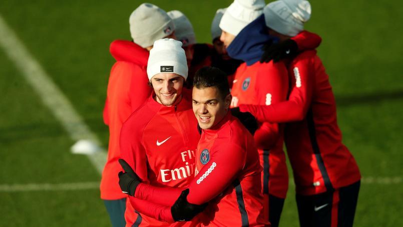 Ben Arfa à l'entraînement avec ses coéquipiers parisiens, fin novembre.