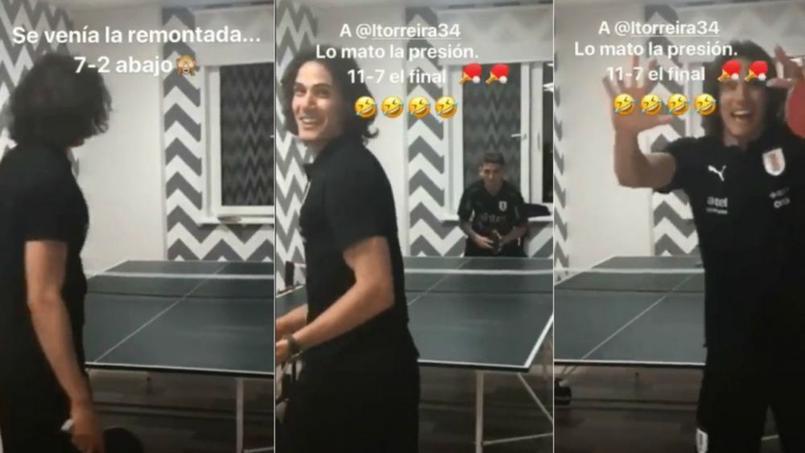 Cavani met en scène sa «remontada»… au ping-pong