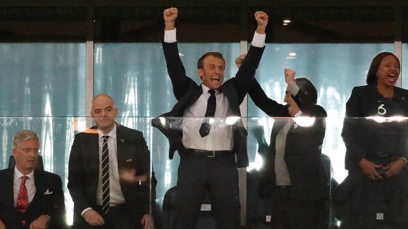 L'après-match d'Emmanuel Macron — France-Belgique