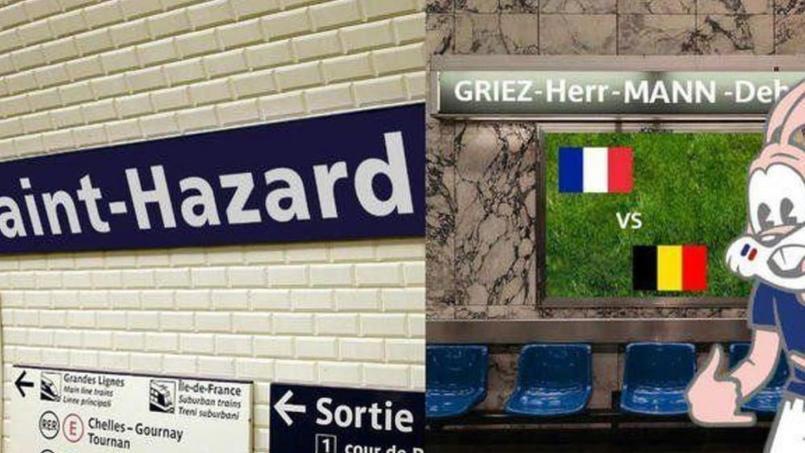 La RATP et la société de transports bruxelloise se titillent avant le match France-Belgique