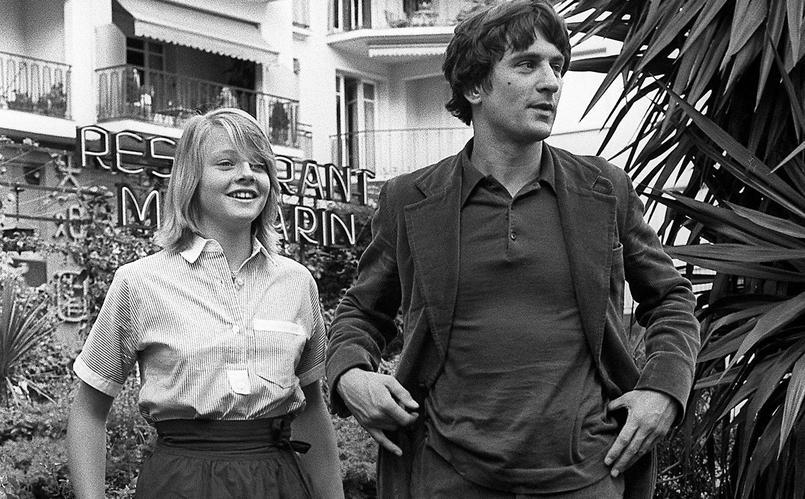Jodie Foster (13 ans seulement!) et Robert de Niro à Cannes pour leurs rôles dans «Taxi driver».