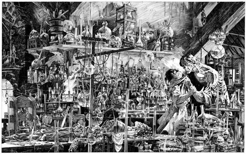 Un aperçu du «Frankenstein» de Bernie Wrightson. Crédits: © Bernie Wrightson