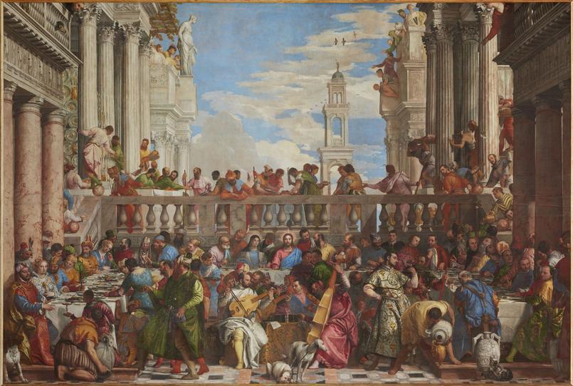 «Les Noces de Cana», Véronèse, huile sur toile, 1563, Paris, musée du Louvre.