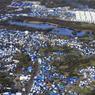 Vue aérienne de la «jungle».