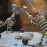 Morris était également agile de ses doigts. Il a réalisé de nombreux jouets à l'effigie de son héros fétiche.