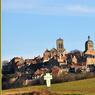 La basilique Sainte-Marie-Madeleine de Vézelay, vue des champs.
