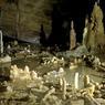 Dans cette cavité, la plus grande de la grotte de Bruniquel, plus de 400 stalagmites coupeés et agencées ont été installées par l'homme de Néandertal il y a 176.500 ans. La grotte de Bruniquel renferme donc la plus ancienne construction humaine attestée.