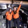 A EUX L'ATLANTIQUE. Le pilote suisse André Borschberg (à droite) a atterri à New-York ce samedi matin à bord de Solar Impulse 2. Il a ainsi achevé la traversée des Etats-Unis de l'avion solaire, débutée le 23 avril dernier. Bertrand Piccard (à gauche) entamera la dernière grande étape de ce tour du monde, commencé à Abu Dhabi le 9 mars 2015, en survolant l'Atlantique dès que les conditions météorologiques le permettront.