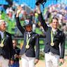 TROP GÉNIAL. L'équitation française se porte décidément bien aux Jeux. L'équipe de France de saut d'obstacles par équipes, composée de Roger Yves Bost, Pénélope Leprevost, Kevin Staut et Philippe Rozier, a remporté l'or, pour la première fois depuis 40 ans.