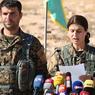 BATAILLE DE RAQQA. Les Forces démocratiques syriennes, dominées par les forces kurdes, poursuivent leur offensive pour reprendre Raqqa, «capitale» du groupe État islamique en Syrie, accroissant la pression sur les djihadistes déjà acculés à Mossoul, leur fief en Irak. Ici en image, Jihan Sheikh Ahmed, commandante des FDS, donne une conférence de presse dans la ville d'Aïn Issa, située à plus de 50 km au nord de Raqqa.